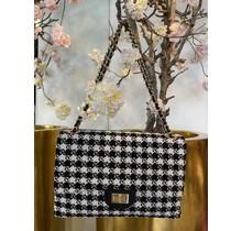 Coco Crossbody Bag Jumbo Black/White
