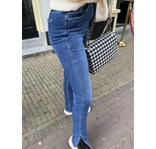 High Waist Denim Split Jeans 5972