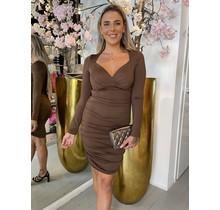 Fix The Love Dress Brown