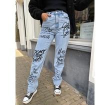 Graffiti Denim Jeans