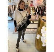 Earned My Stripes Sweater White/Black