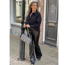 Run This Leather Flare Black