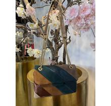 Iconic Crossbody Bag Blue/Brown Mini