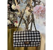 Coco Crossbody Bag Midi Black/White