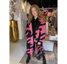 Ivy Checkered Coat Pink/Black