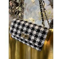 Coco Crossbody Bag Mini Black/White