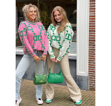 Steal The Show Sweater White/Green