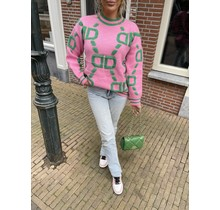 Steal The Show Sweater Pink/Green