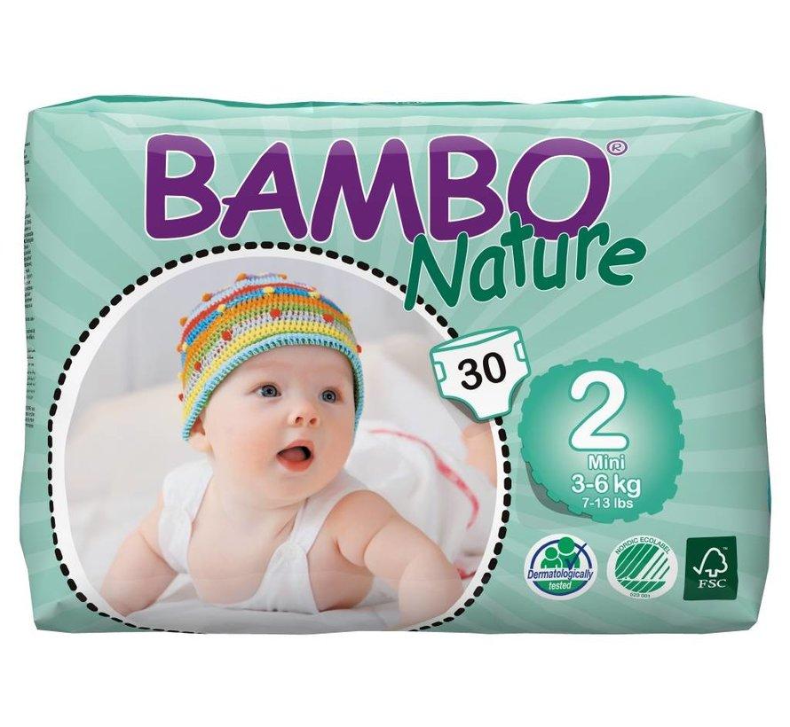 Bambo Nature  Luiers maat  2  mini voor baby's van 3 tot 6 kg