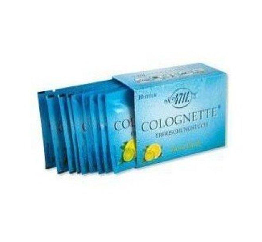 Verfrissingstissues citroen Colognette (10 stuks)