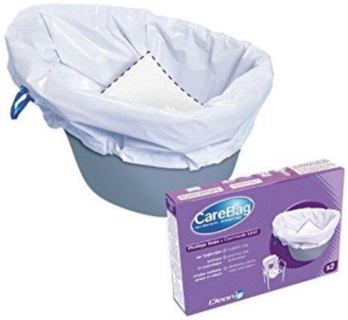 CareBag Opvangzakken toiletstoel probeerverpakking - 2 stuks