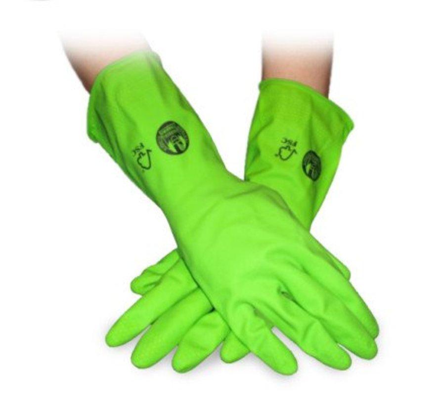 Duurzame huishoudhandschoenen van fairtrade rubber