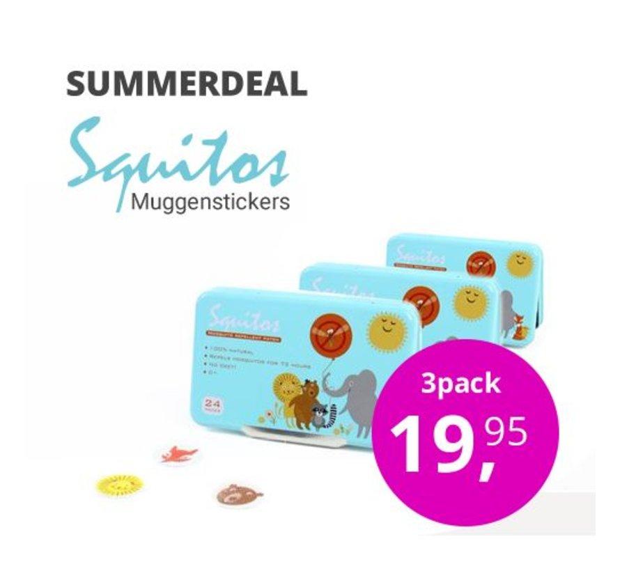 Voordeelbundel anti-muggenstickers ( 3 x 24 stuks)