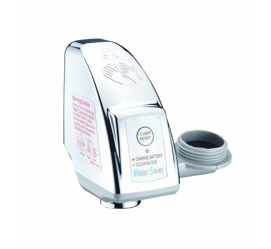 Waterbesparende kraan adapter maakt van gewone kraan een infraroodkraan