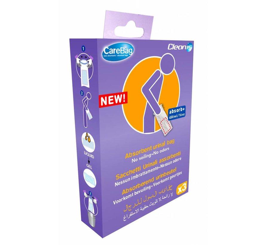 Wegwerp urinaal 3 stuks verpakking (reisverpakking)