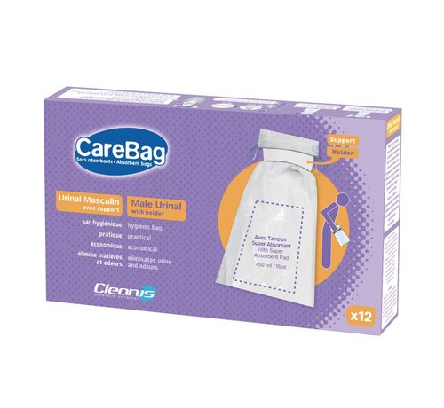 CareBag Wegwerp urinaal met houder 12 stuks