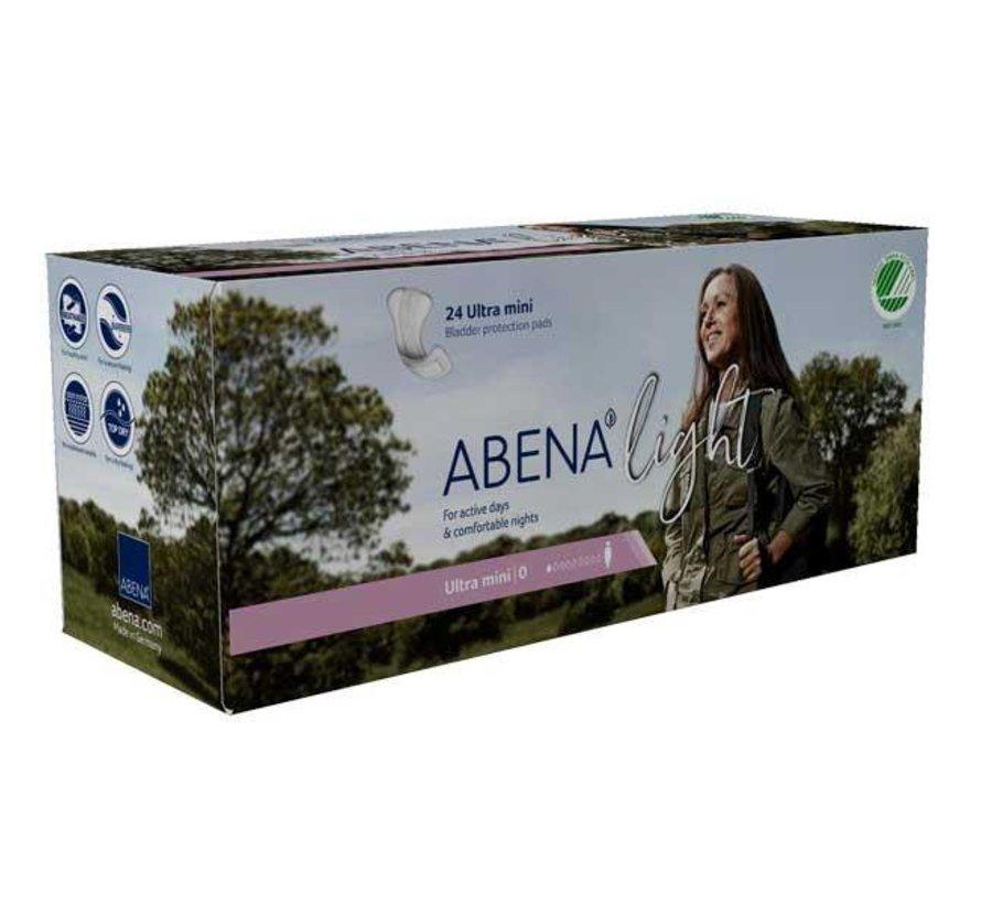 Abena Light Ultra Mini  inleggers (24 stuks)