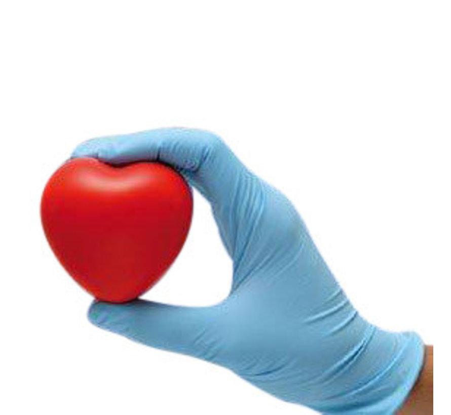 Nitril handschoenen  blauw, wit, zwart en roze 100 stuks poedervrij