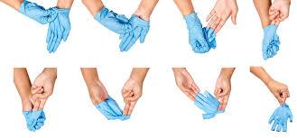 nitril handschoenen uittrekken