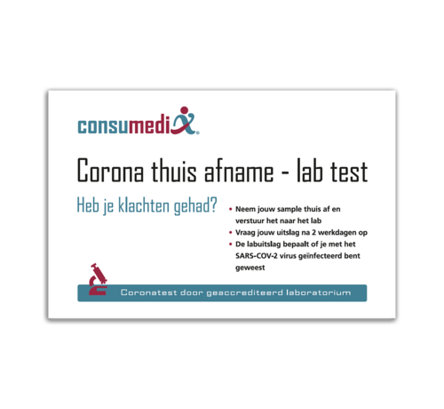 Consumedix Corona-thuis-afname lab-test