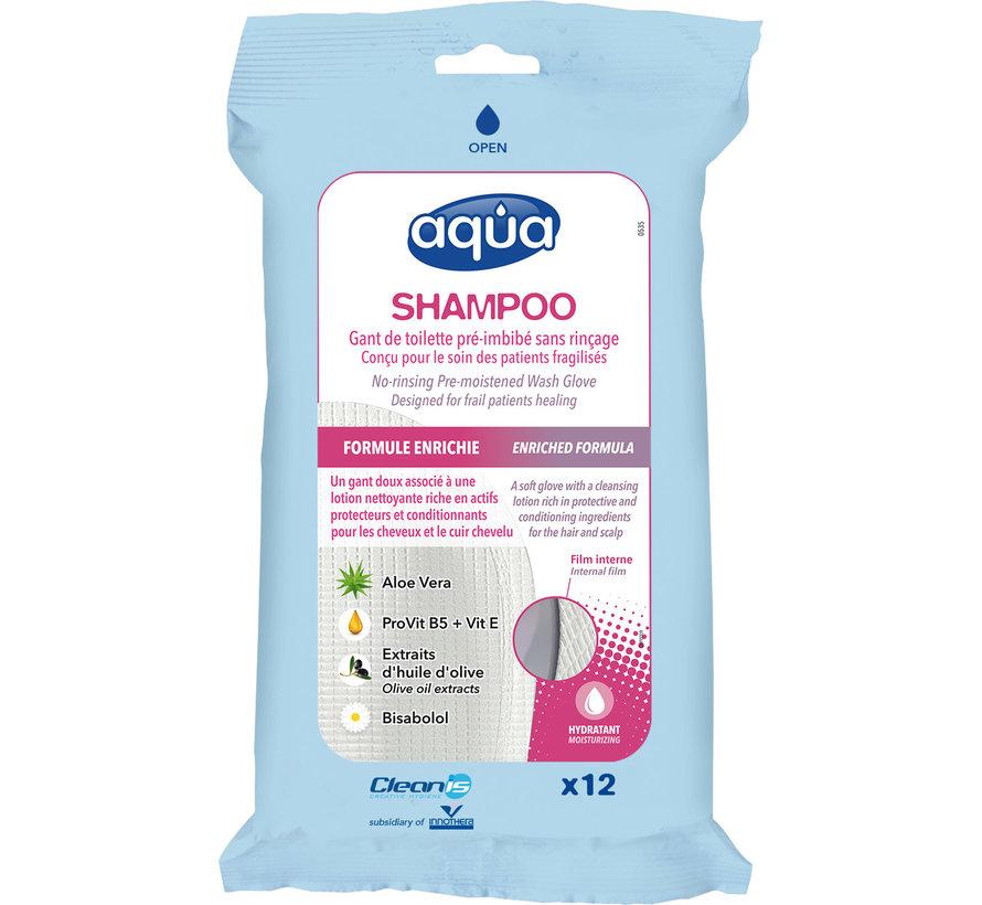 Shampoo washandjes, haar wassen zonder water 12 stuks