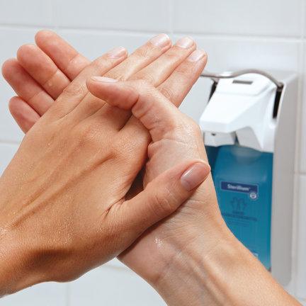 Sterillium handdesinfectie voor de zong