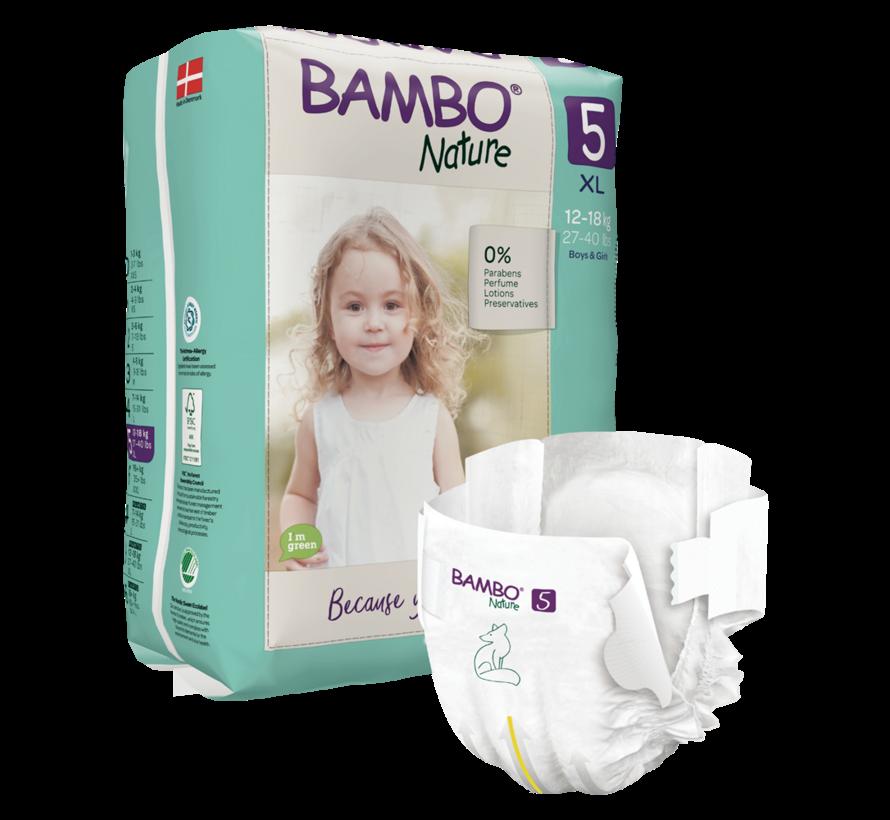 Bambo Nature luiers maat 5 XL (12 -18 kg)