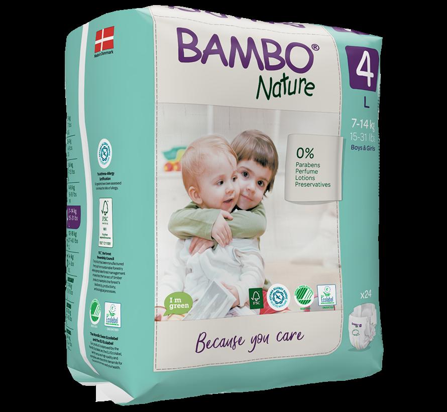 Bambo Nature luiers maat 4 L (24 stuks) 7 tot 14 kg