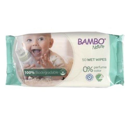 Bambo Nature Bambo Nature bio billendoekjes, huidvriendelijk en zacht (50 stuks)