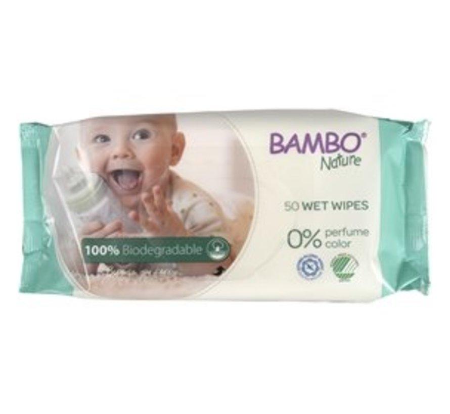 Bambo Nature bio billendoekjes, huidvriendelijk en zacht (50 stuks)