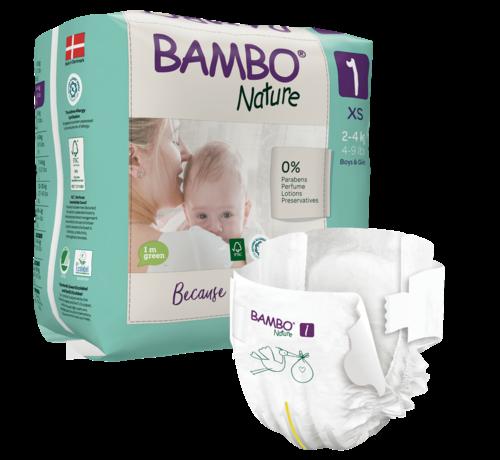 Bambo Nature Bambo Nature luiers maat 1  XS  2- 4 kg (22 stuks)