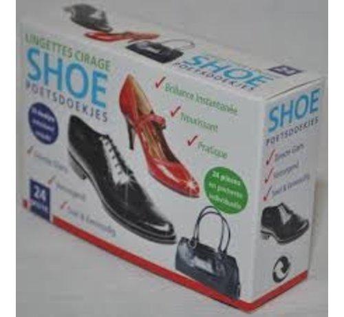 Schoenpoetsdoekjes 24 stuks, overal en altijd glimmende schoenen