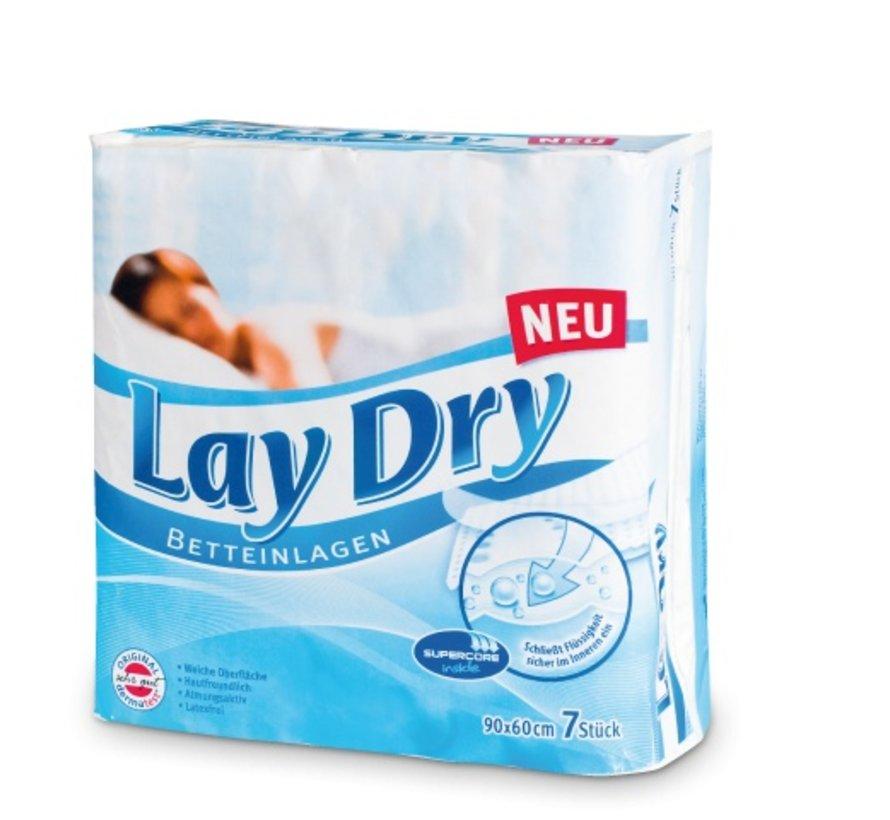 Bed onderleggers LayDry 60 x 90 cm ( 7 stuks)