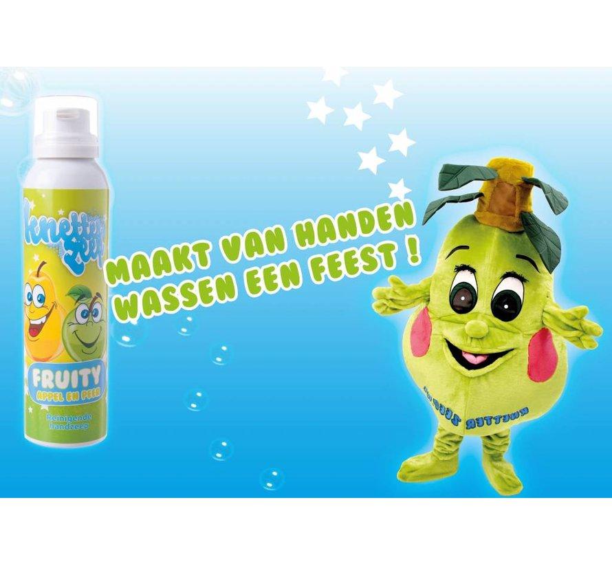 Knetterzeep Fruity een leuke manier van handen wassen bij kinderen