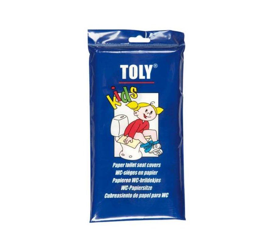 WC-brildekjes Toly Kids 30 stuks