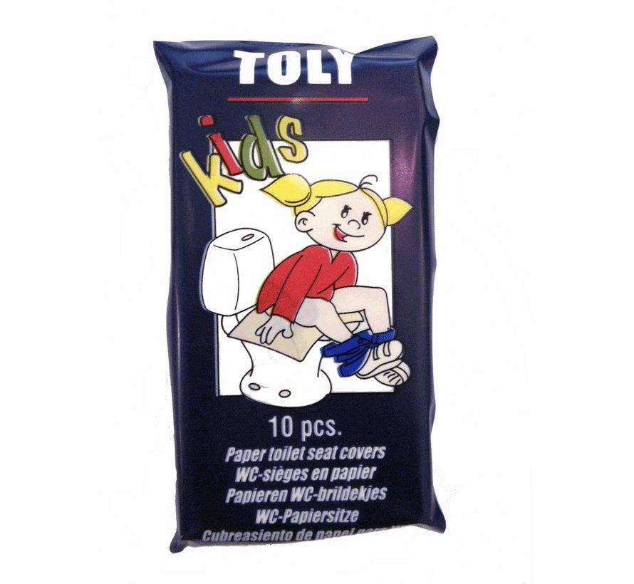 WC-brildekjes Toly Kids (10 stuks)