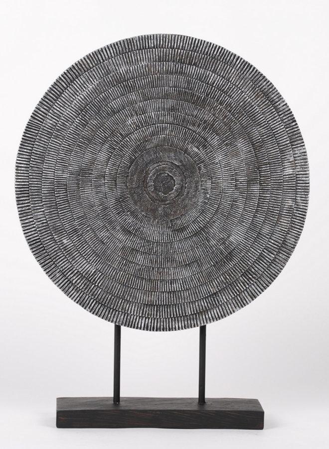 Deco wheel silver