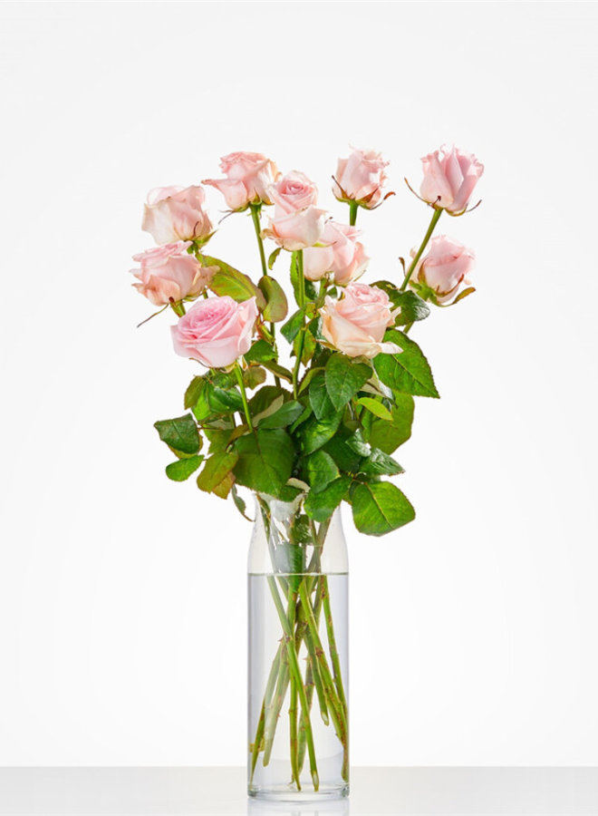 Roze rozen per stuk