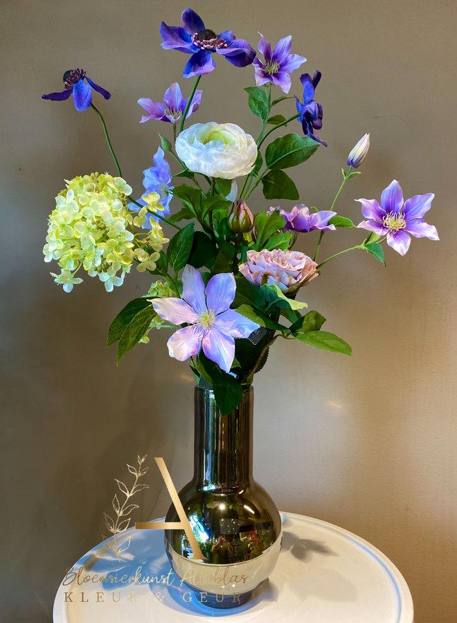 Mini flowerpower lila inclusief vaas