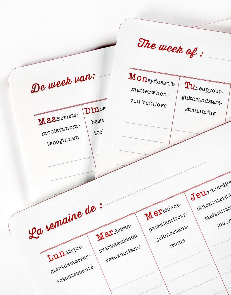 SERAX Weekplanner