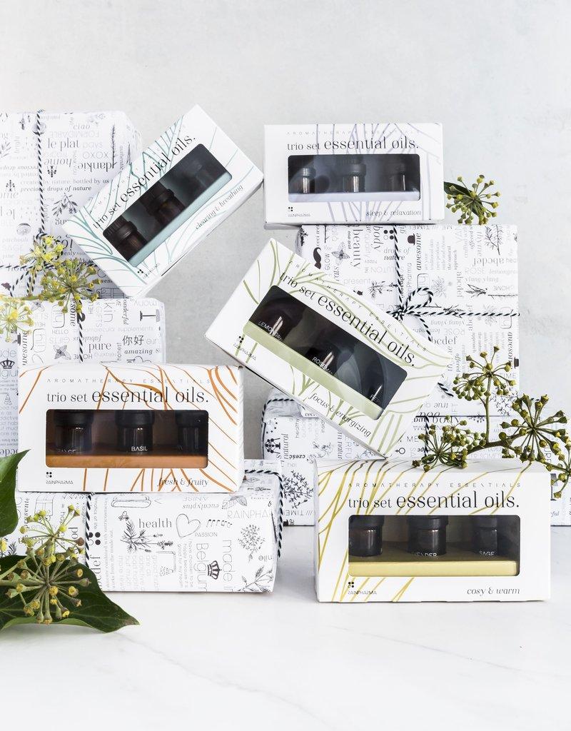 RainPharma Trio Essential Oils - Focus & Energizing