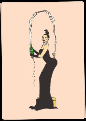 Kaart Blanche Champagne Kim