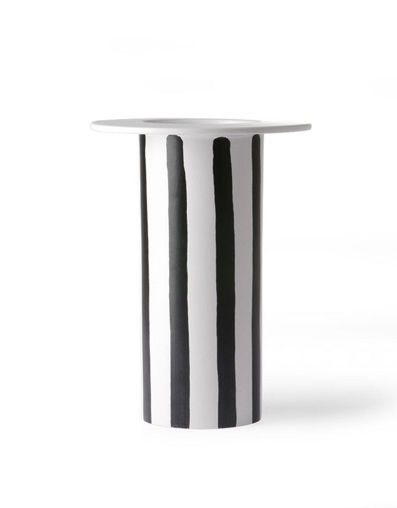 HKLiving Greek Vase Black/White