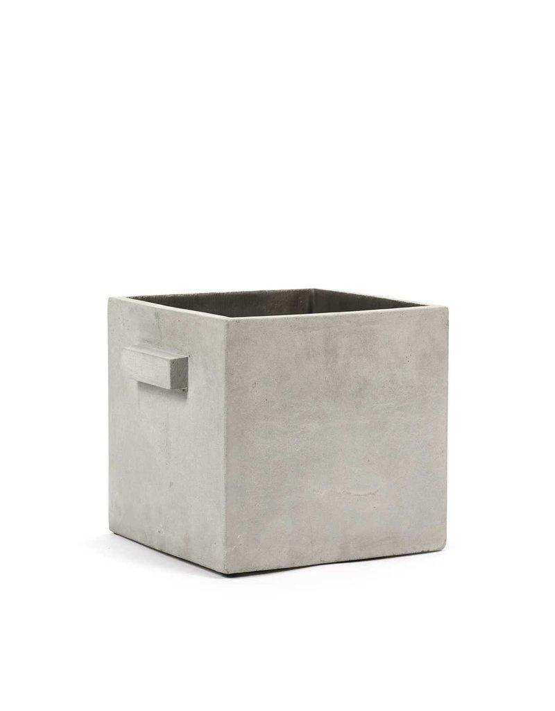 SERAX Flower Pot Concrete - Square Grey (L)