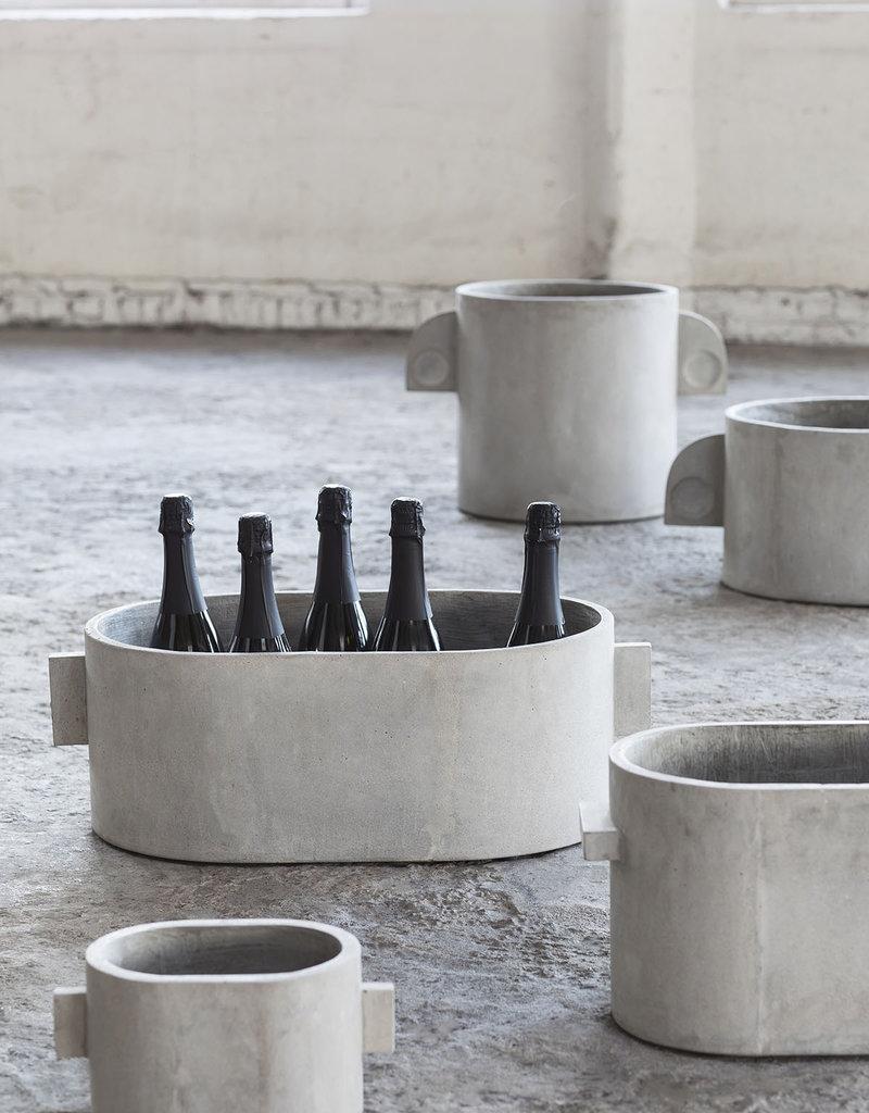 SERAX Flower Pot Concrete - Oval (S)