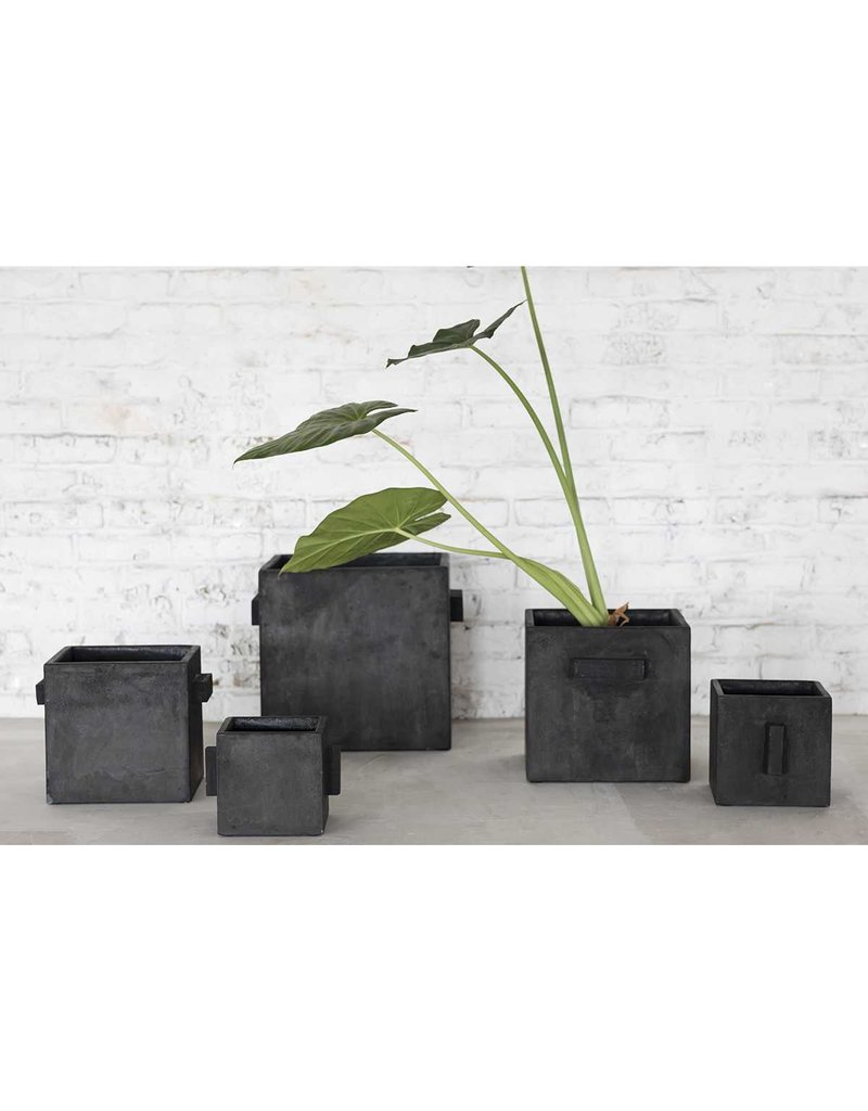 SERAX Flower Pot Concrete - Square Black (S)