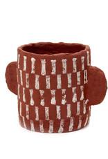 SERAX Flower Pot Papier Maché - Red (S)
