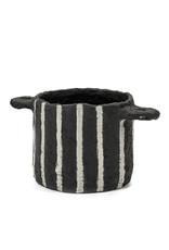SERAX Flower Pot Papier Maché - Black (S)