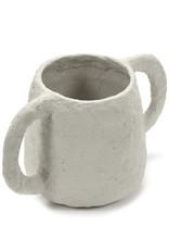SERAX Plant Pot Papier Maché - Beige (M)