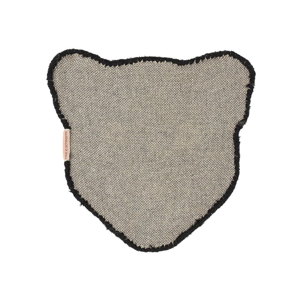 Black Panter Head Rug